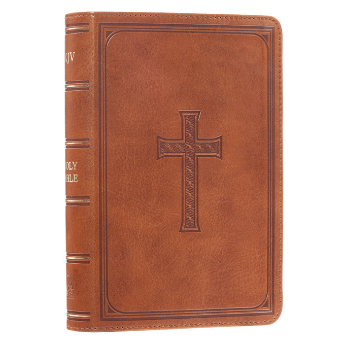 Tan KJV Bible Large Print Compact