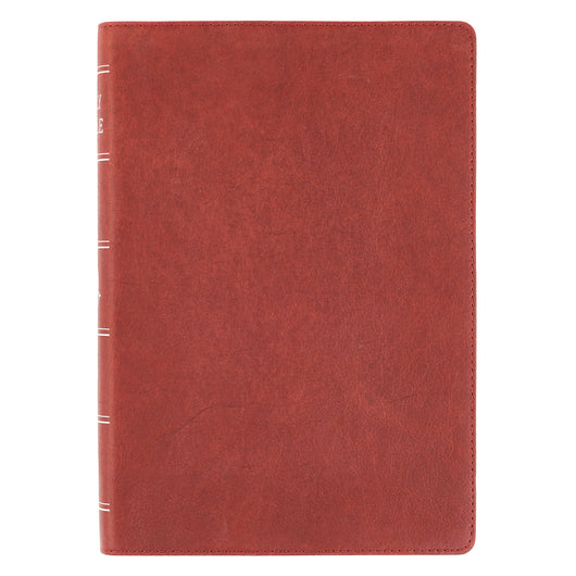 Premium Leather Burgundy KJV Bible Super Giant Print