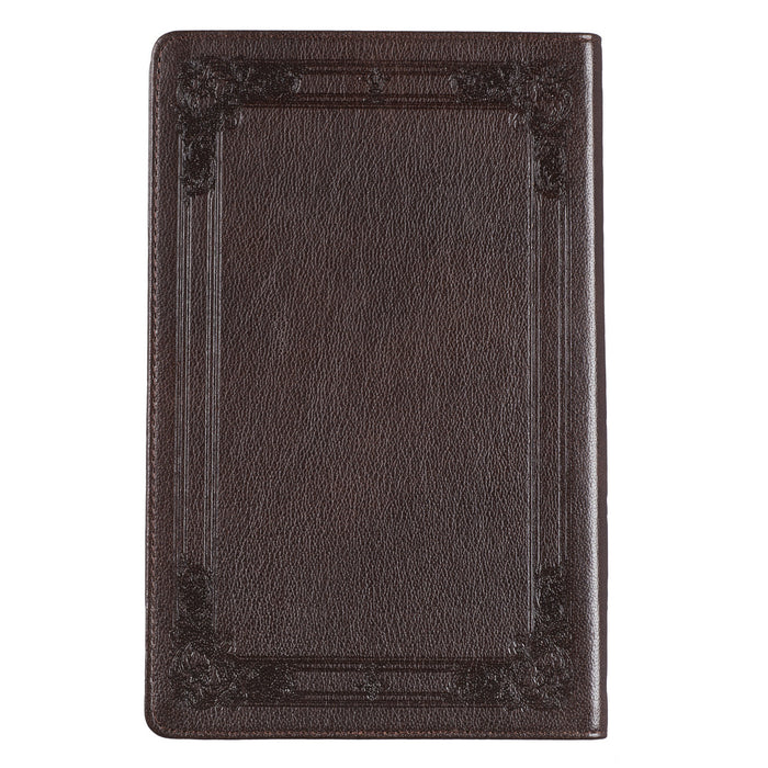 Premium Leather Dark Brown KJV Bible Standard Gift Edition