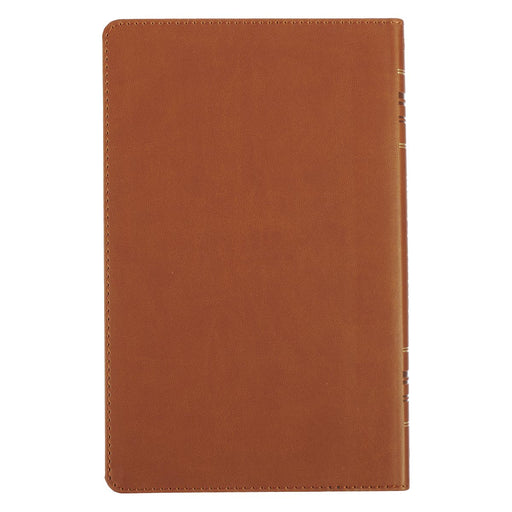 KJV Value Gift & Award Thinline Bible in Brown Faux Leather