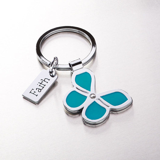 Butterfly Keyring with