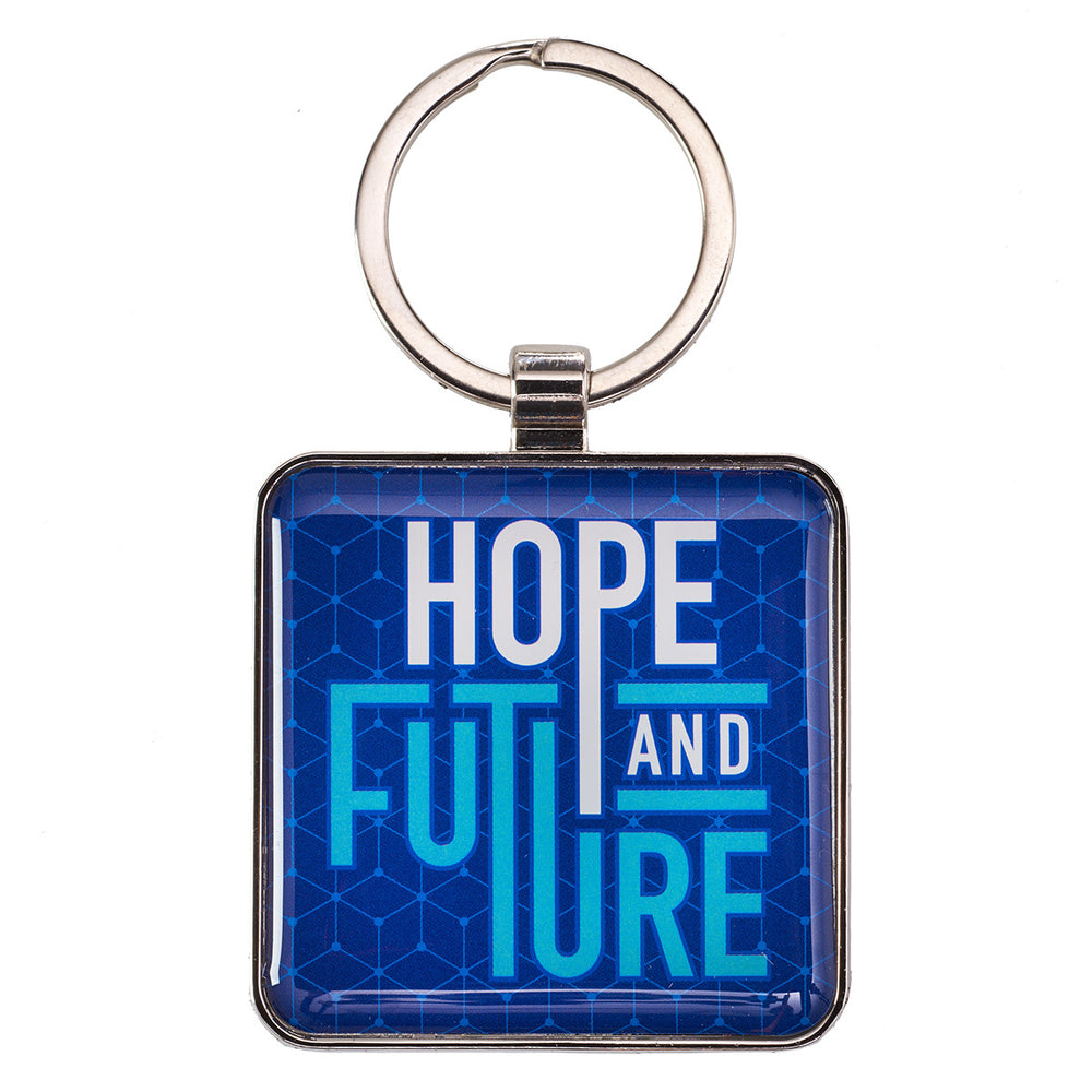 Hope and Future - Jeremiah 29:11 Keyring in Tin