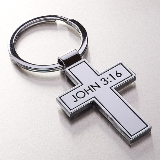 Metal Cross Keyring  - Pack of 3
