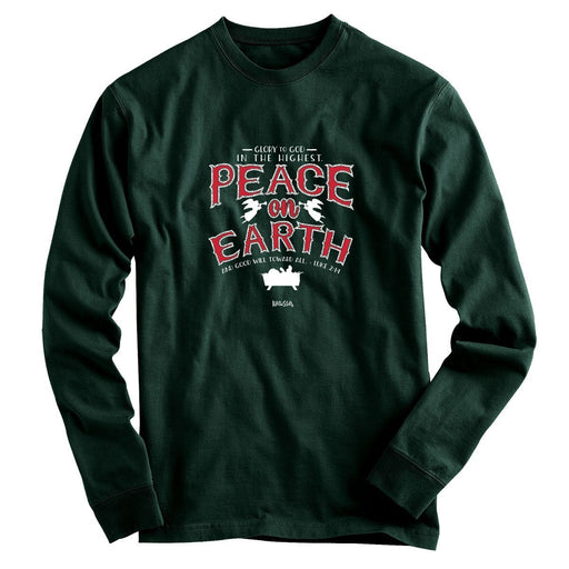 Kerusso Christian Long Sleeve T-Shirt Peace On Earth