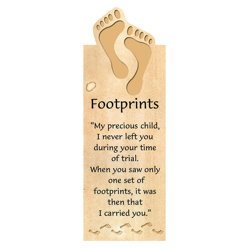 Footprints Magnetic Bookmark