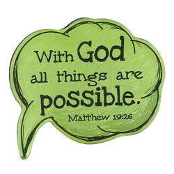 Speech Bubble With God Matthew 19:26