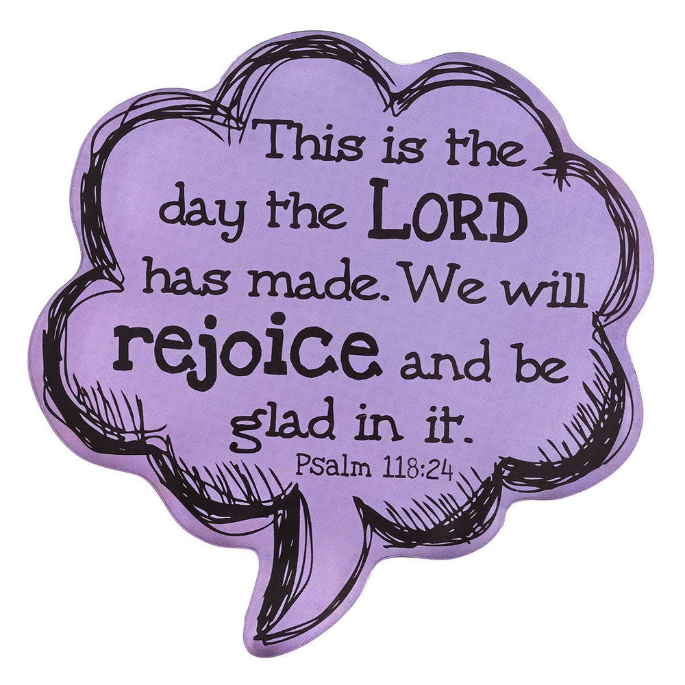 This is the Day Speech Bubble Magnet in Purple - Psalm 118:24