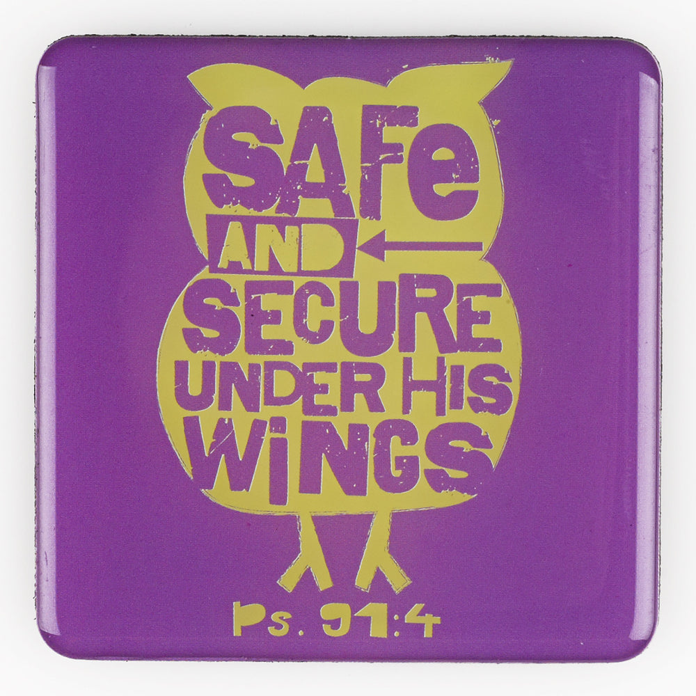 Safe & Secure Magnet - Psalm 91:4