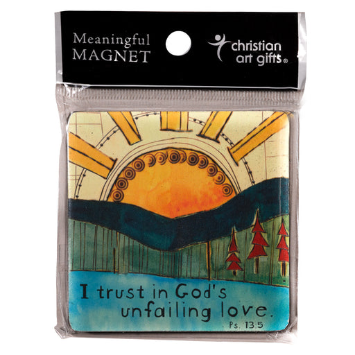 """God's Unfailing Love"" Wood Magnet In Packs of 3: $2.49 Each"