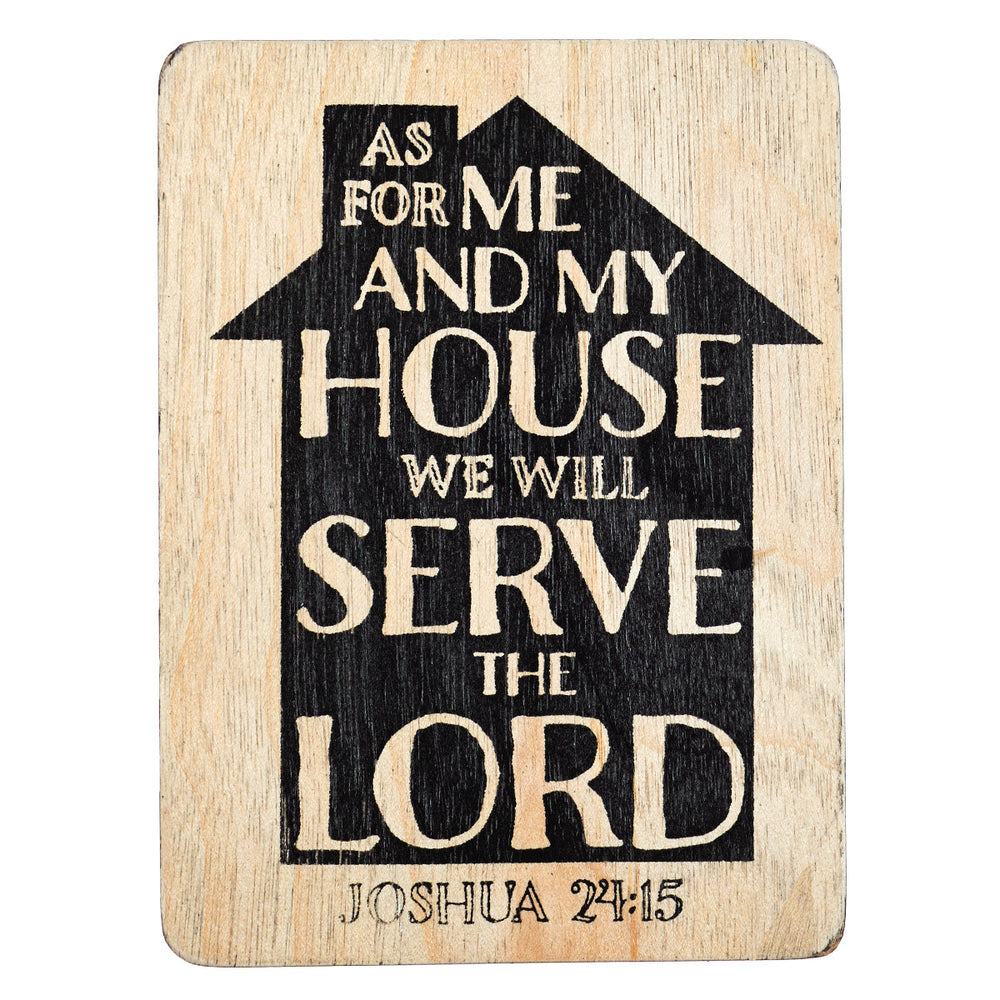 """As For Me and My House"" Magnet"