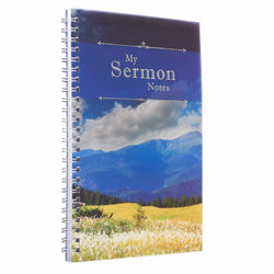My Sermon Notes Wirebound Notebook with Mountains