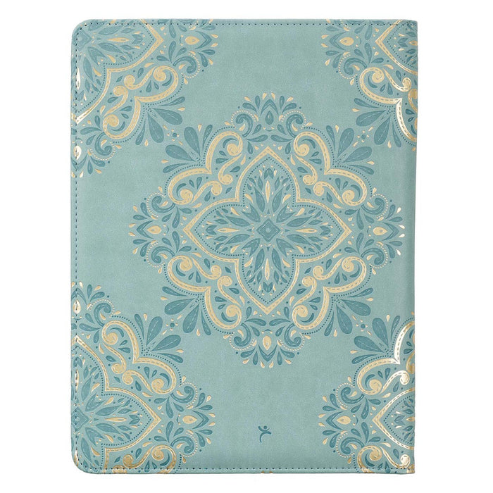 Hope & a Future Powder Blue Faux Leather Portfolio Folder - Jeremiah 29:11