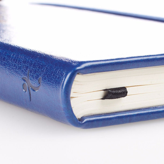 Jeremiah 29:11 FauxLeather Notebook - Navy Blue with Gold Foil