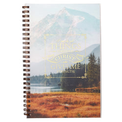 All Things Through Christ Wirebound Notebook