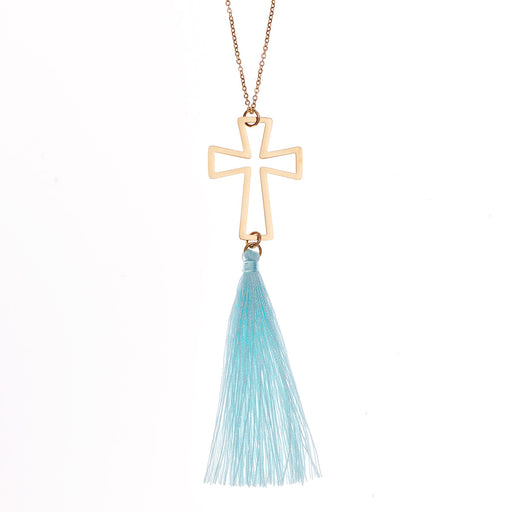 Cross With Tassel Necklace