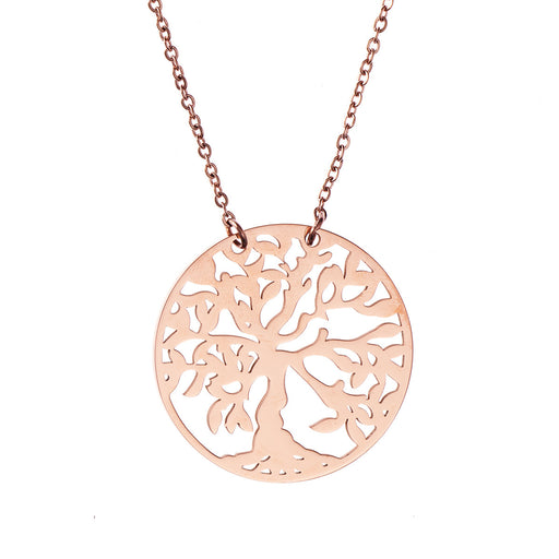 Tree Of Life Die Cut Disc Necklace