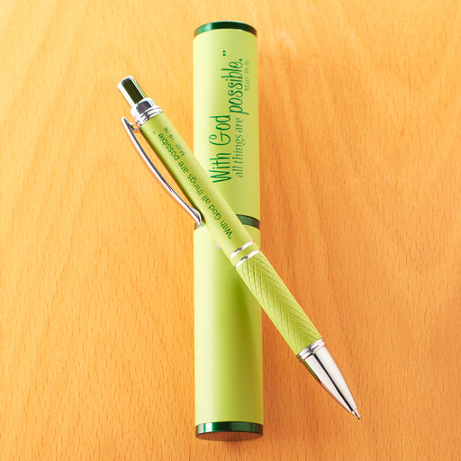 Three Color Stylish Pen and Case Merchandiser
