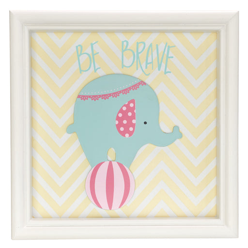 Be Brave Elephant, Children's Wall Art