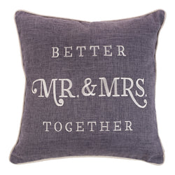 Better Together - Mr. & Mrs. Square Pillow