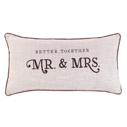 Better Together - Mr. & Mrs. Rectangular Pillow