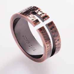 Cross Cutout - John 3:16 Men's Ring