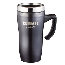 Courage Stainless Steel Travel Mug - Joshua 1:9