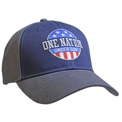 Kerusso® Christian Hat Patriotic One Nation Under God Blue