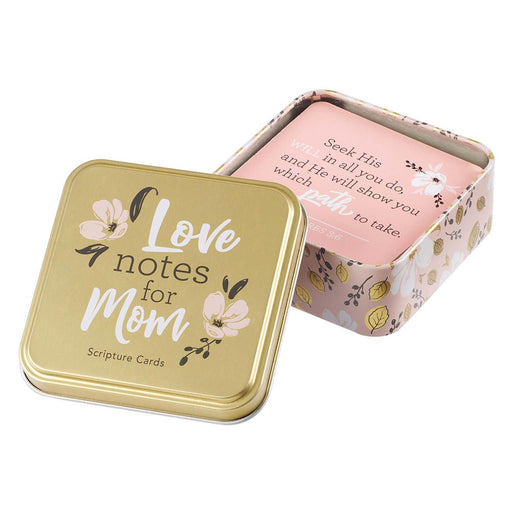 Love Notes for Mom Scripture Cards in a Tin