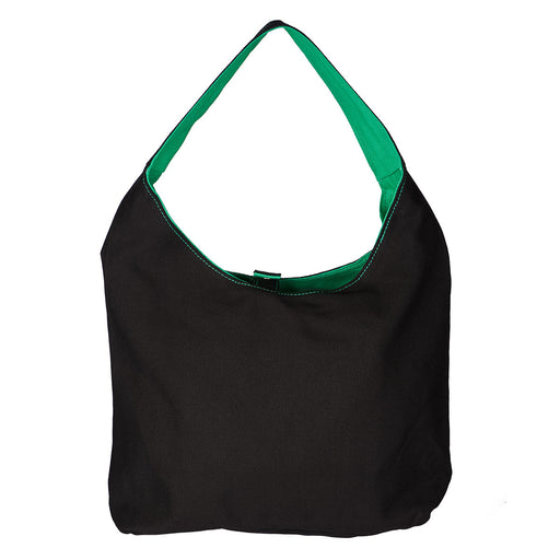 Tote Love - Black/Green Canvas