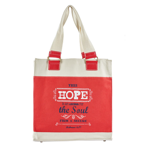 Retro Blessings, Hope Hebrews 6:19 Tote Bag