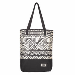 Black & White Geometric Canvas Purse w/