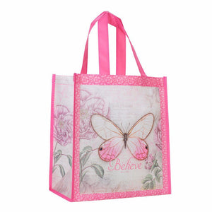 Butterfly Pink Shopping Bag