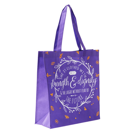 Strength and Dignity Tote Bag - Proverbs 31:25