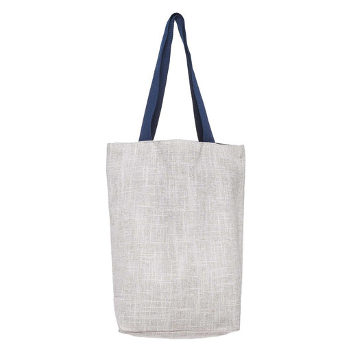 Love Joy Grace Woven Tote Bag in Light Grey