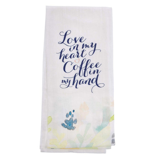 Love in My Heart Cotton Tea Towel