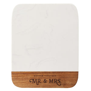 Better Together - Mr. & Mrs. Marble and Acacia Cheese Board