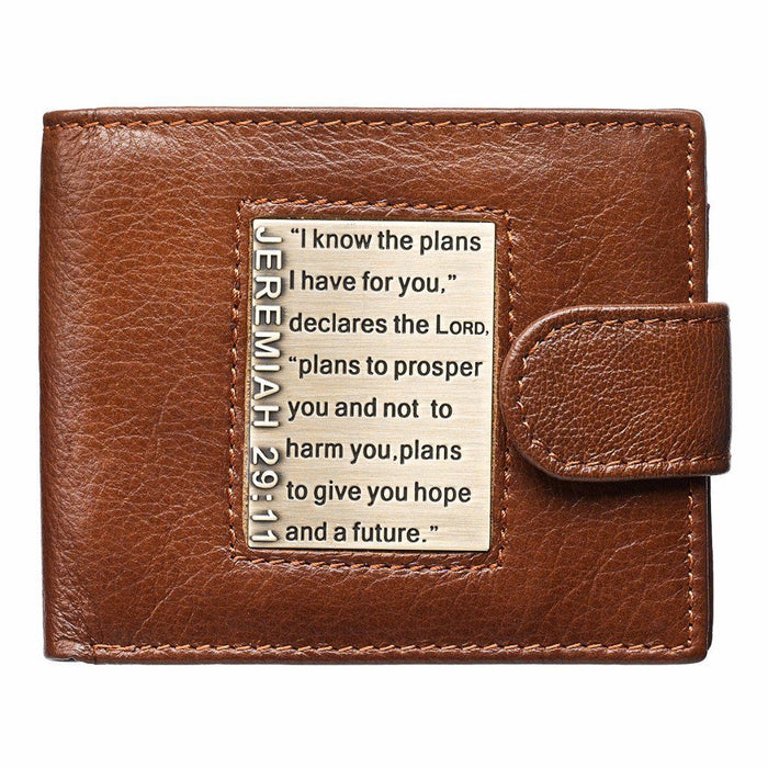 Leather Wallet - I Know the Plans