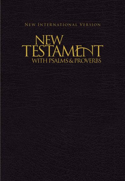 NIV, New Testament with Psalms & Proverbs, Pocket-Sized, Paperback, Black