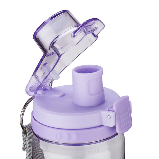 Trust in the Lord in purple - Proverbs 3:5-6 Plastic Water Bottle
