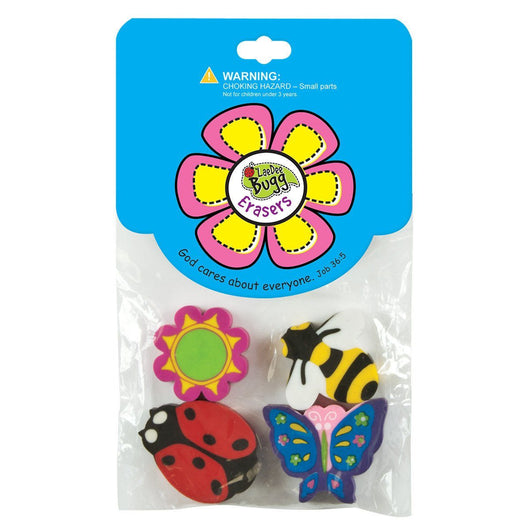 LaeDee Bugg Erasers Flower - Pack of 3