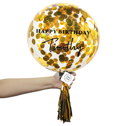 Confetti Bubble Balloon - Round