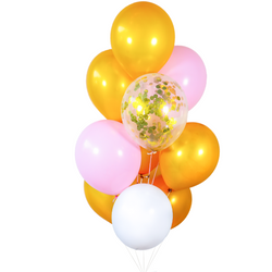 Gold Pink Balloon Bunch