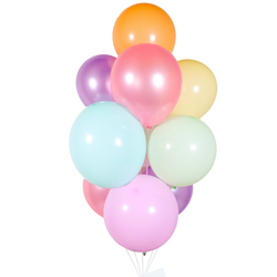 Pastel Rainbow Balloon Bunch