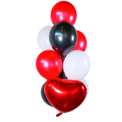 Red Theme Balloon Bunch