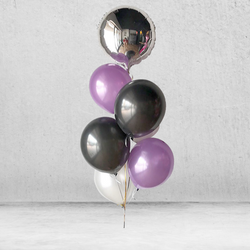 Purple Manhattan Metallic Balloon Bunch