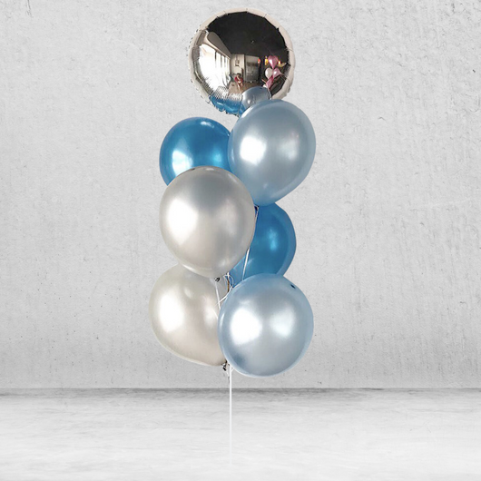 Nighty Metallic Balloon Bunch