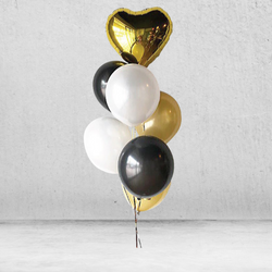 Classic Gold Metallic Balloon Bunch