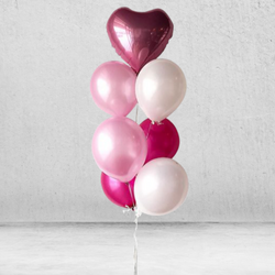 Pink Lara Metallic Balloon Bunch
