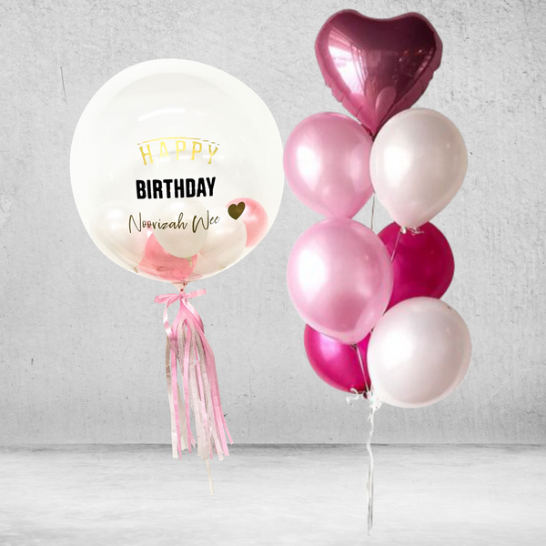 Passion Pink Bubble Balloon