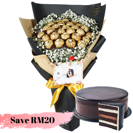 Golden Time Chocolate Cake Bundle
